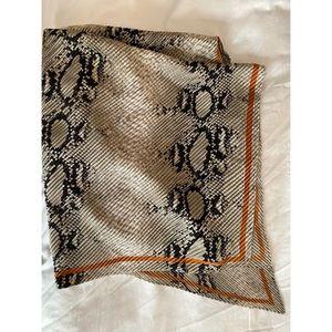 Zara snakeskin square scarf